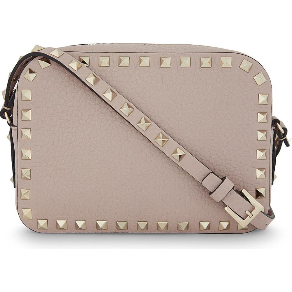ヴァレンティノ valentino レディース バッグ ショルダーバッグ【rockstud leather camera cross-body bag】Poudre