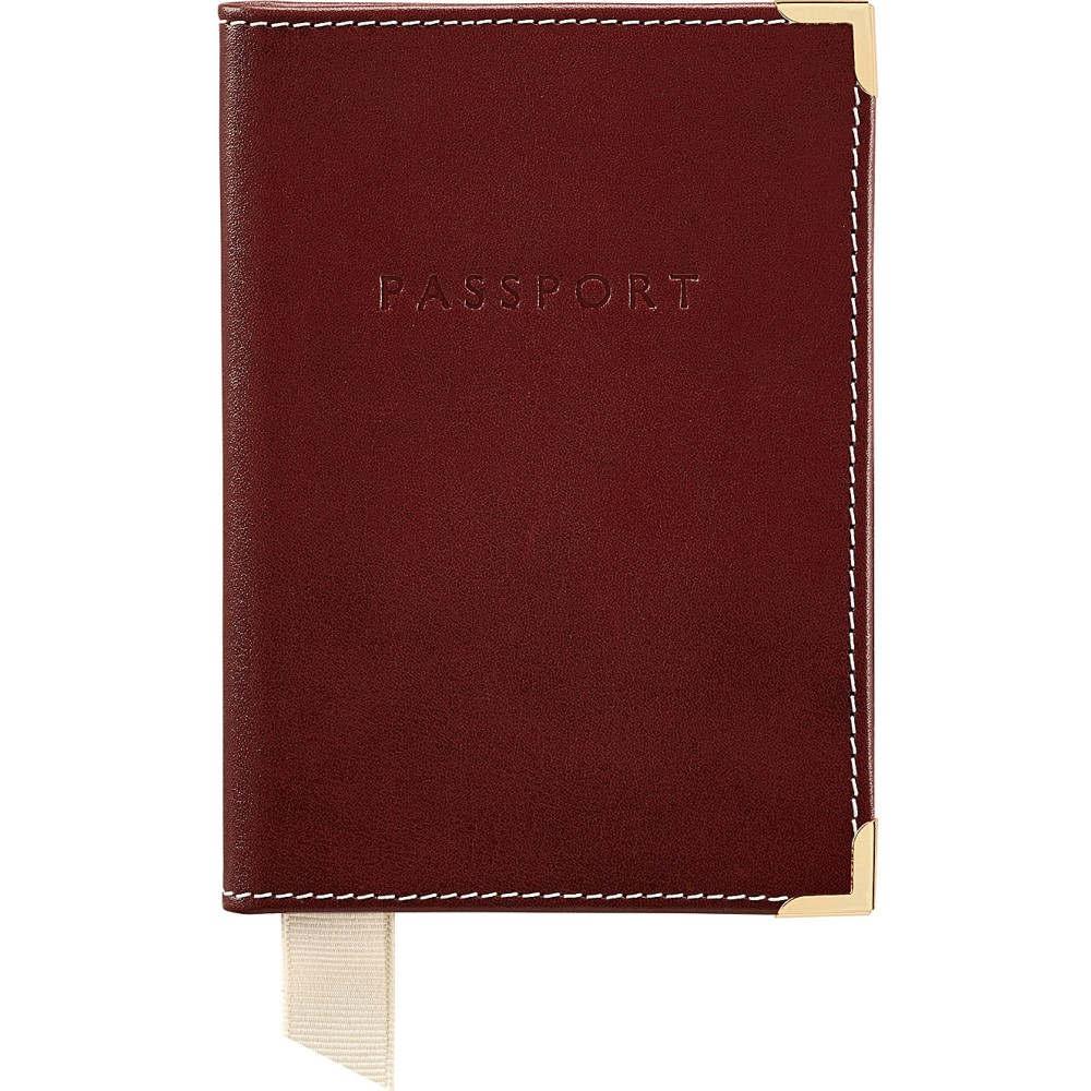 アスピナル オブ ロンドン aspinal of london メンズ 財布・時計・雑貨 パスポートケース【plain leather passport cover】Cognac