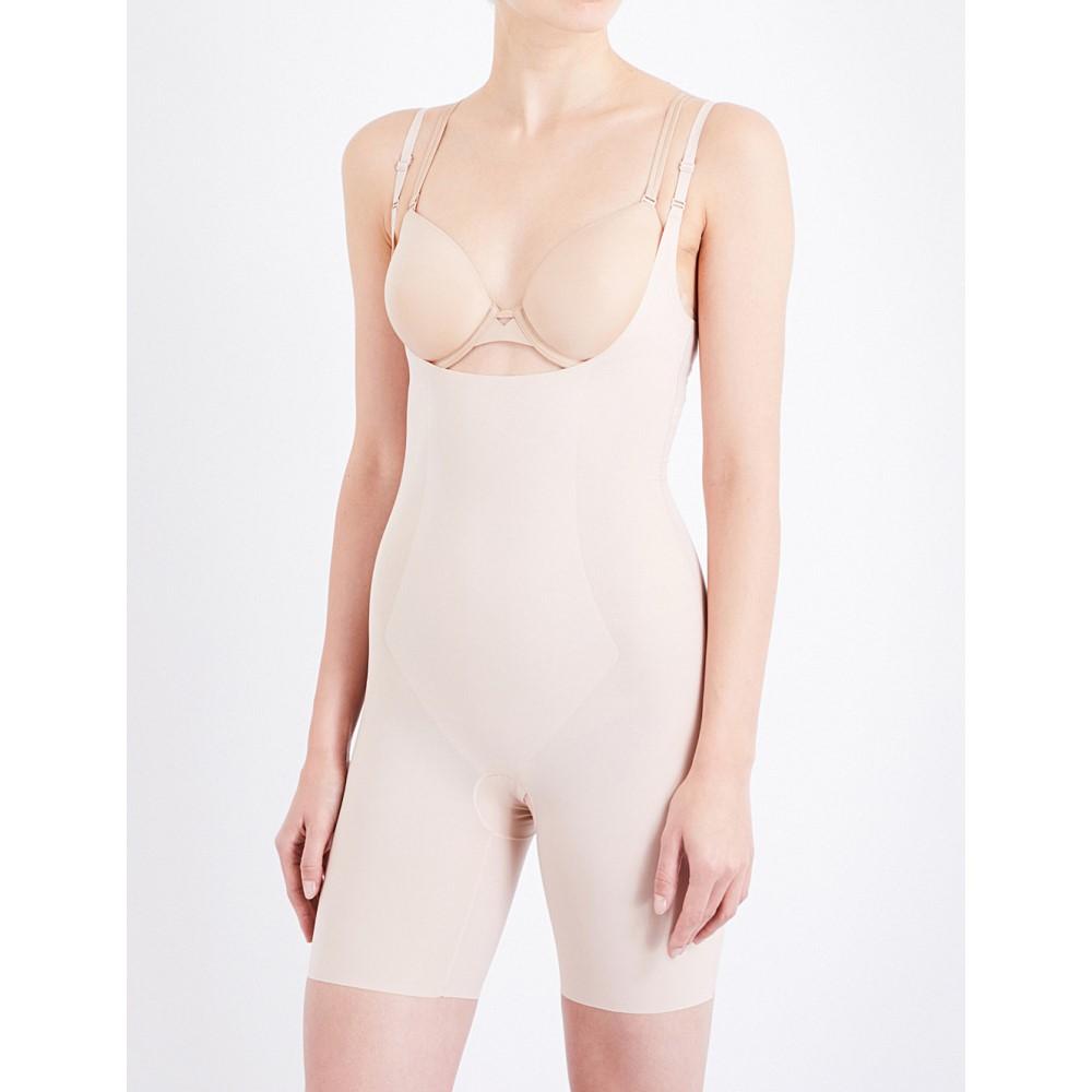 スパンクス レディース インナー・下着 ボディースーツ【thinstincts open-front microfibre body】Soft nude