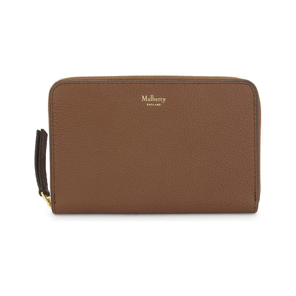 マルベリー レディース 財布【grained leather medium zip-around wallet】Oak