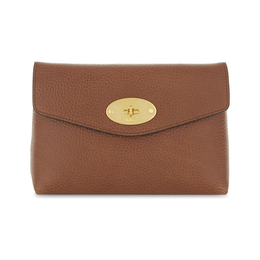 マルベリー レディース ポーチ【darley small grained leather pouch】Oak