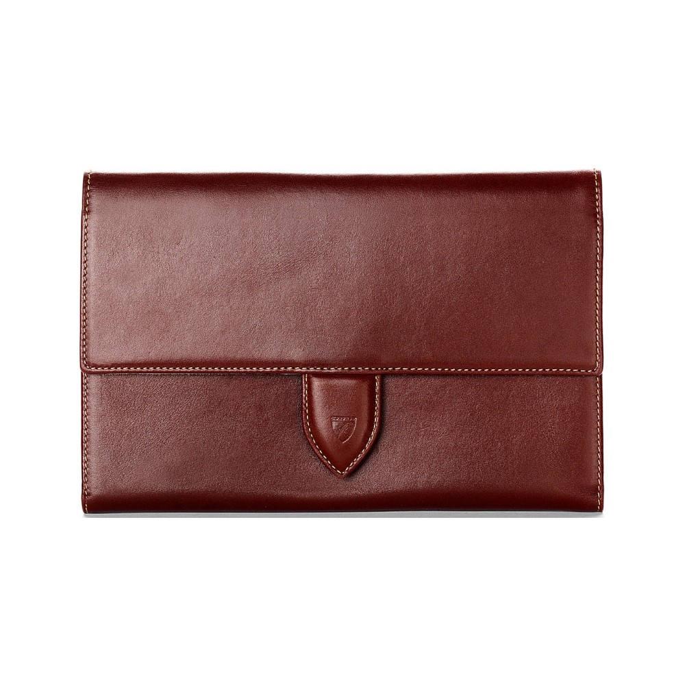 アスピナル オブ ロンドン メンズ 財布【deluxe leather travel wallet】Cognac