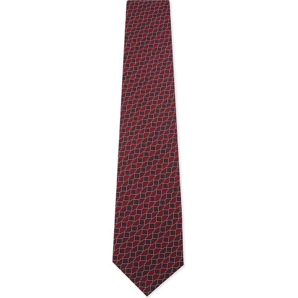 イートン メンズ ネクタイ【printed silk tie】Pink/red