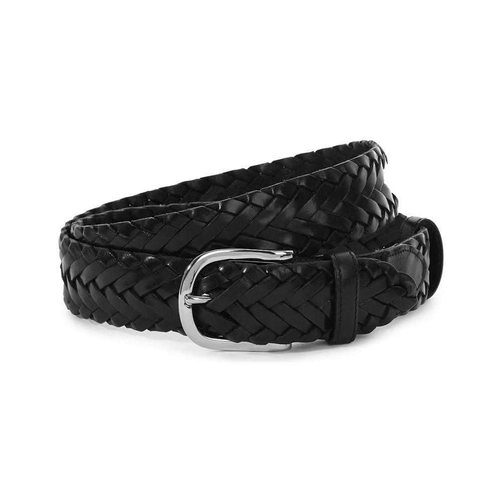 エリオットローズ メンズ ベルト【leather woven belt】Black