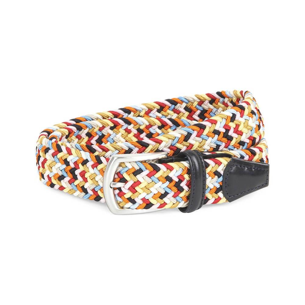 アンダーソンズ メンズ ベルト【multi-woven elasticated belt】Multi bright