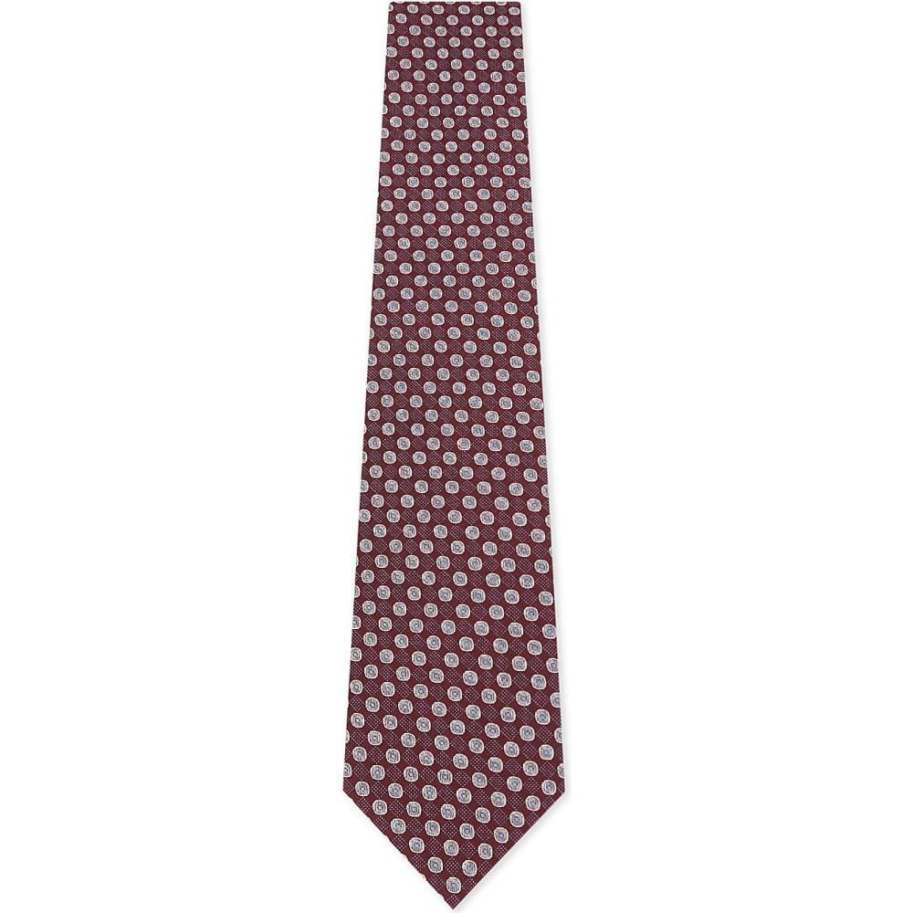 イートン メンズ ネクタイ【check and spot silk tie】Pink/red