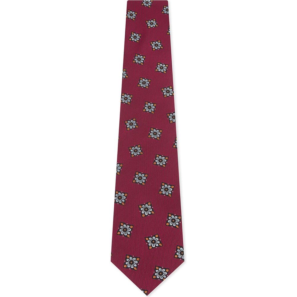 イートン メンズ ネクタイ【floral tile silk tie】Pink/red