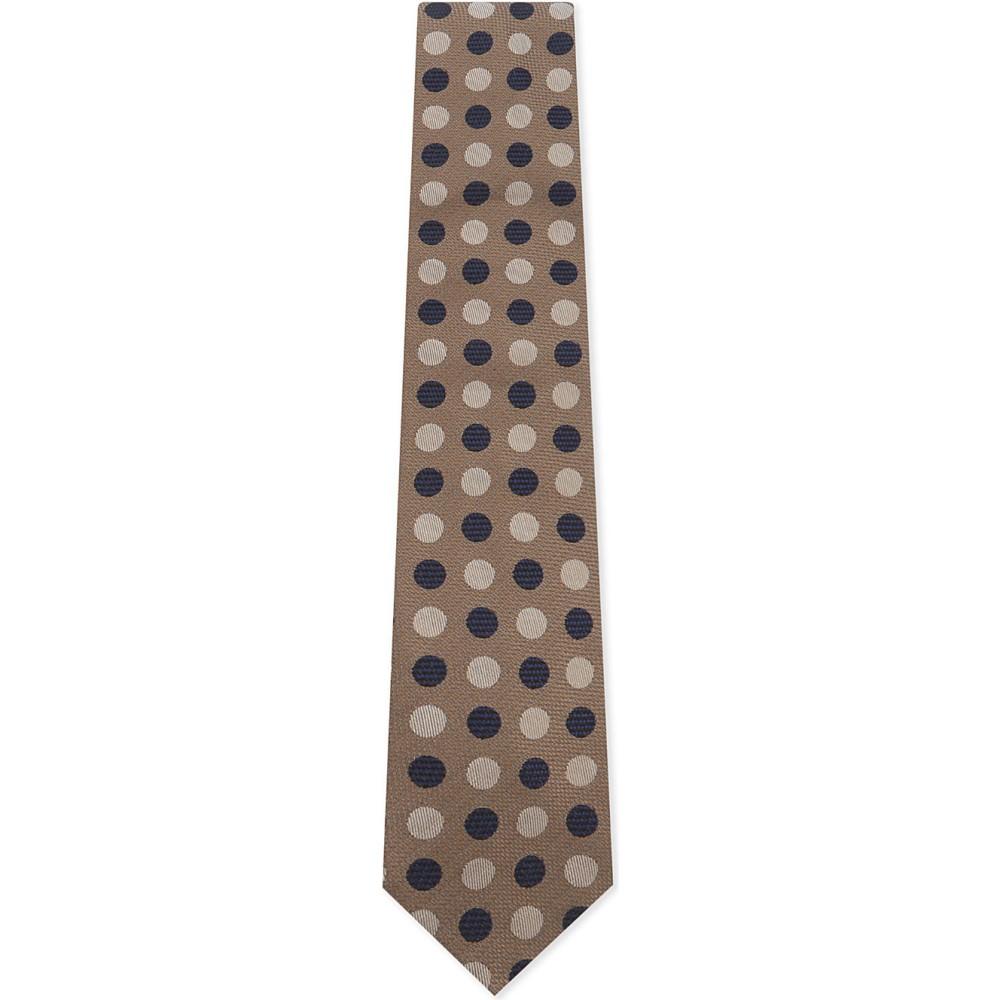 イートン メンズ ネクタイ【spot and stripe silk tie】Offwhite/brown