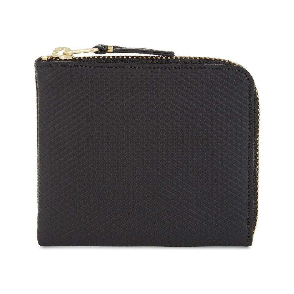 コム デ ギャルソン レディース 財布【leather half-zip wallet】Black