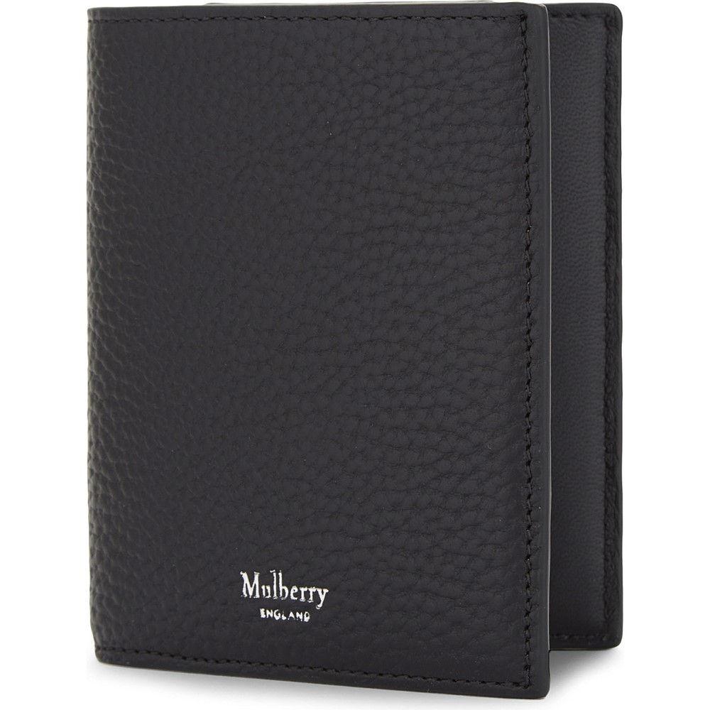 マルベリー メンズ 財布【trifold grained leather card wallet】Black