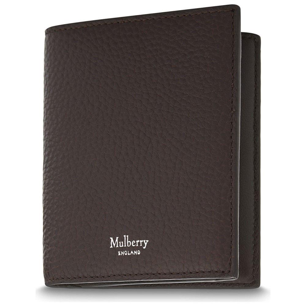 マルベリー メンズ 財布【trifold grained leather card wallet】Chocolate