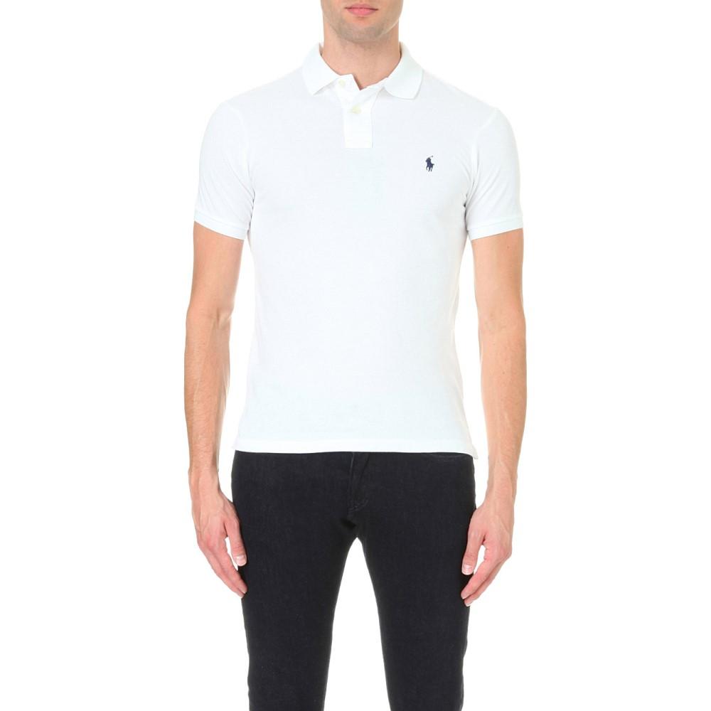 ラルフ ローレン メンズ トップス ポロシャツ【slim–fit mesh polo shirt】White