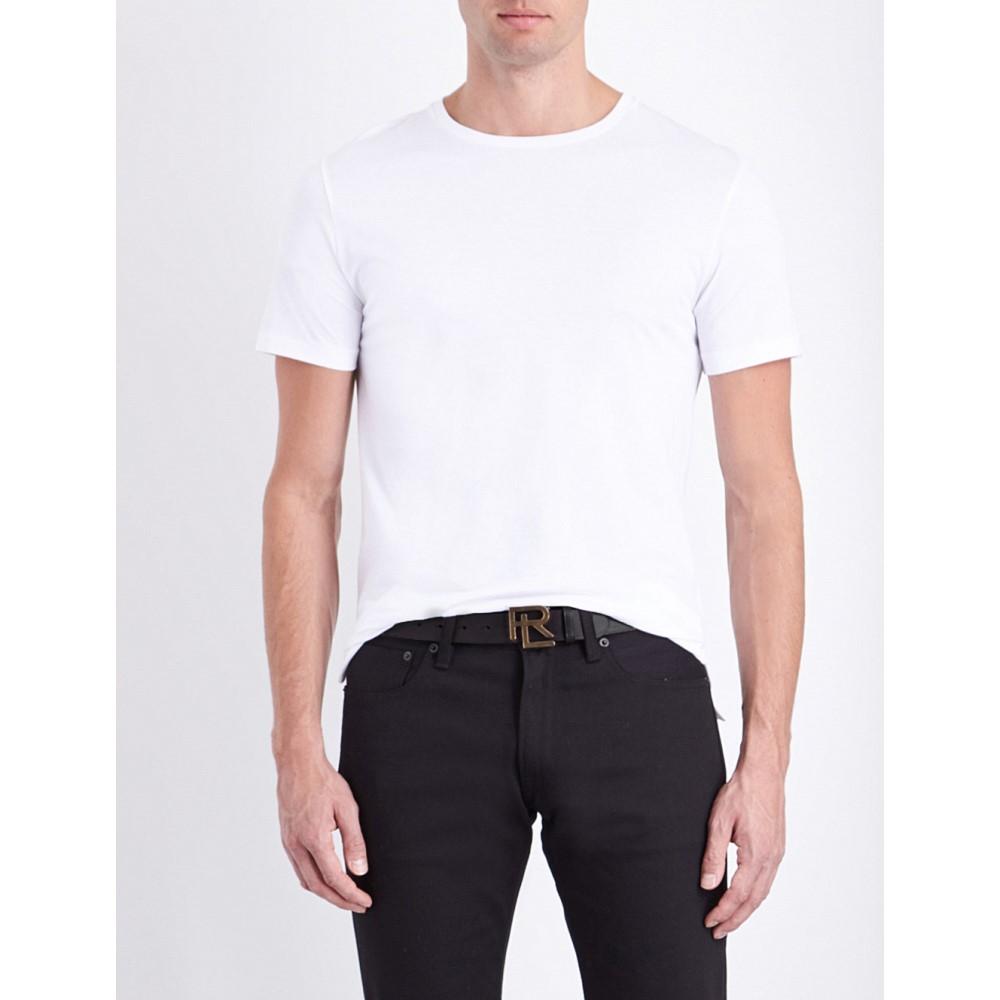 ラルフ ローレン メンズ トップス Tシャツ【crewneck cotton-jersey t-shirt】Classic white