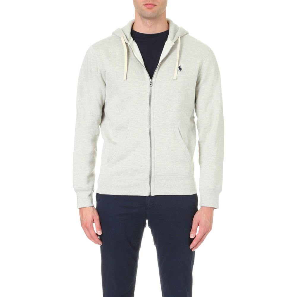 ラルフ ローレン メンズ トップス パーカー【zip-up cotton-blend hoody】Light sport heather