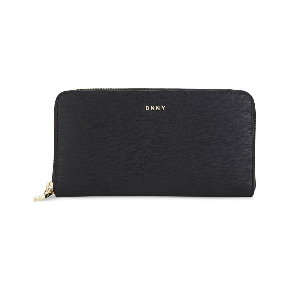 ダナ キャラン ニューヨーク レディース 財布【bryant zip-around leather wallet】Black