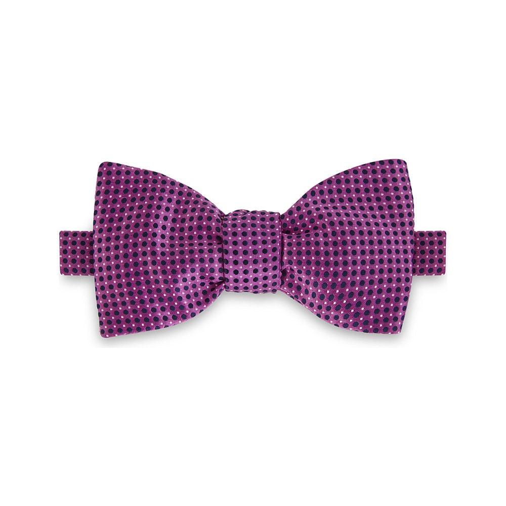 イートン メンズ ネクタイ【polka dot silk bow tie】Pink/red