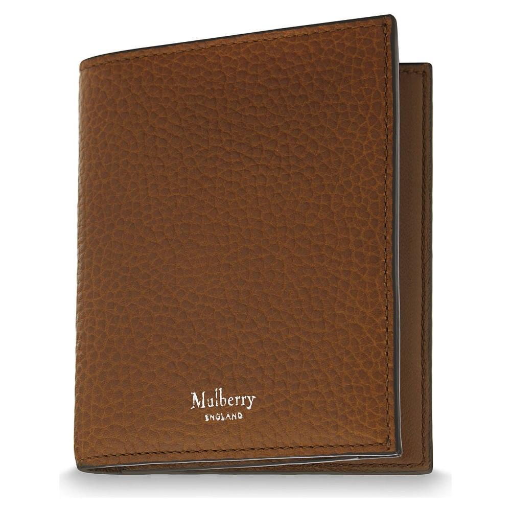 マルベリー メンズ 財布【trifold grained leather card wallet】Oak