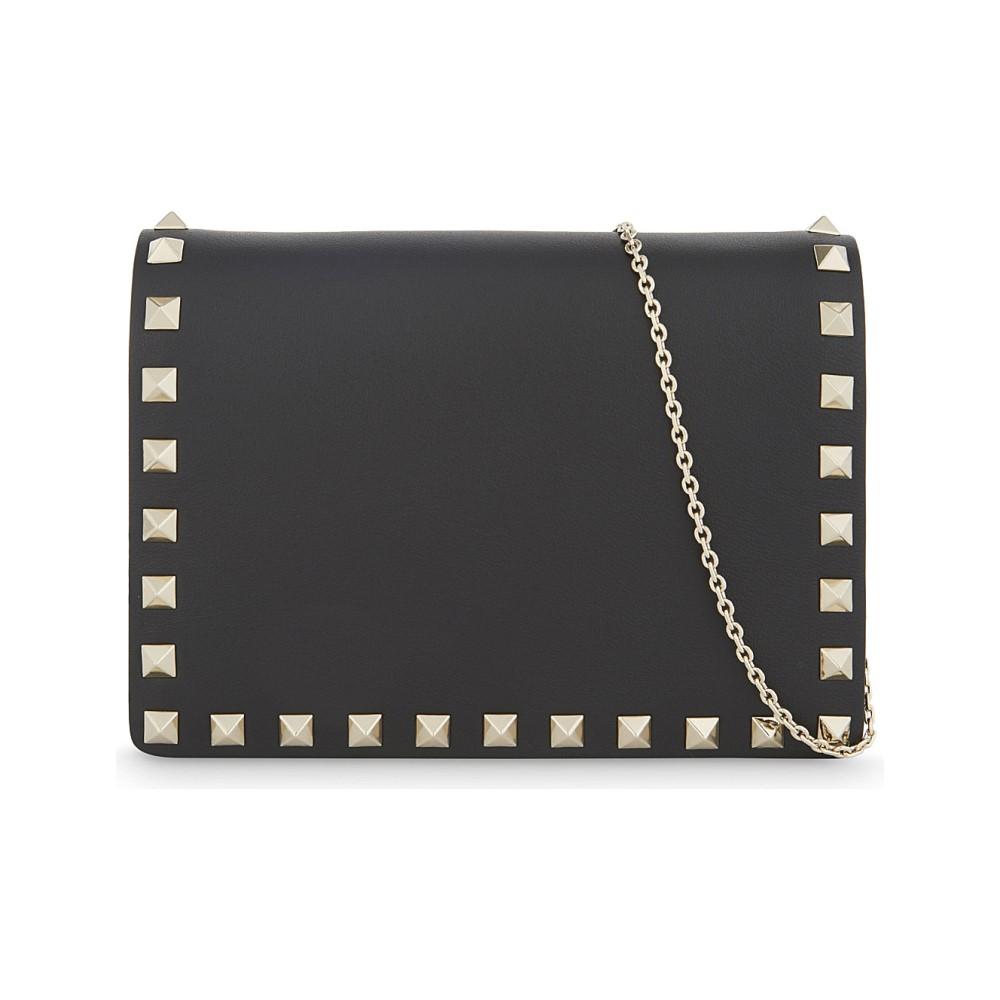 ヴァレンティノ レディース バッグ ショルダーバッグ【rockstud small leather cross-body bag】Black
