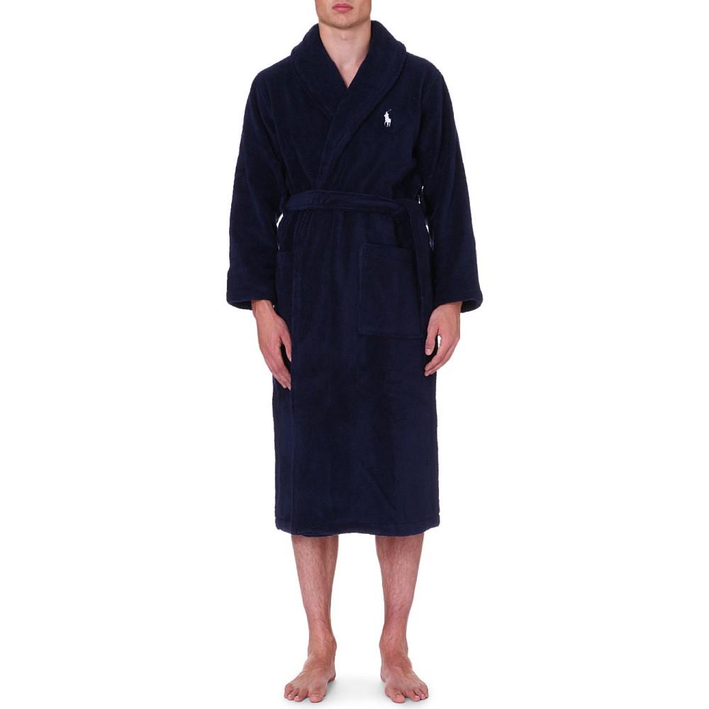ラルフ ローレン メンズ インナー・下着 ガウン・バスローブ【terry towelling dressing gown】Navy