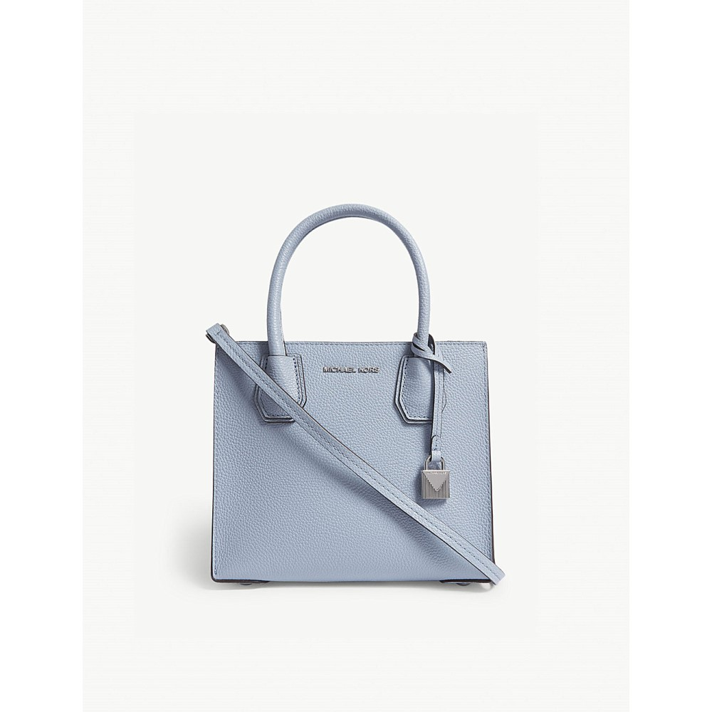 マイケル コース レディース バッグ ハンドバッグ【mercer medium leather shoulder bag】Pale blue