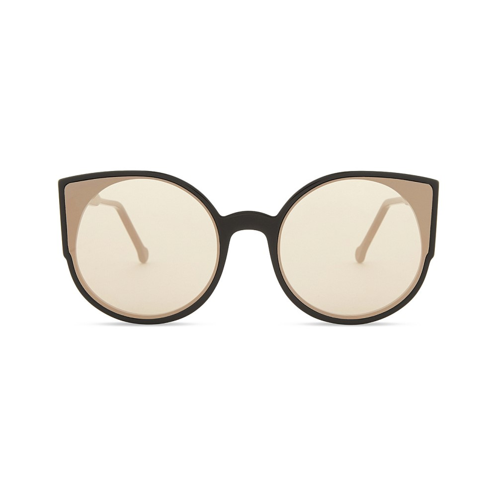 レトロ スーパー フューチャー レディース メガネ・サングラス【giaguaro cat-eye sunglasses】Black