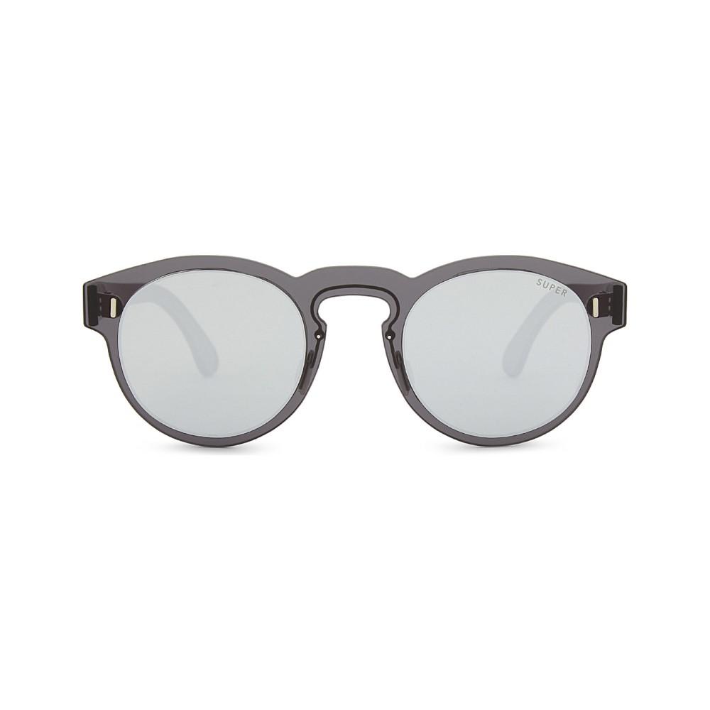 レトロ スーパー フューチャー レディース メガネ・サングラス【paloma round-frame sunglasses】Silver black