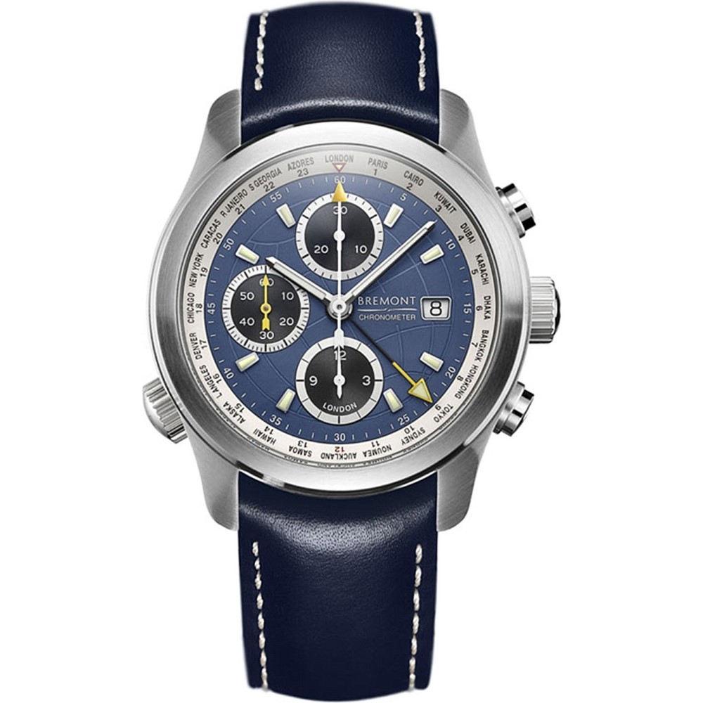 ブレモン メンズ 腕時計【alt1-wtbl world timer stainless steel watch】Steel