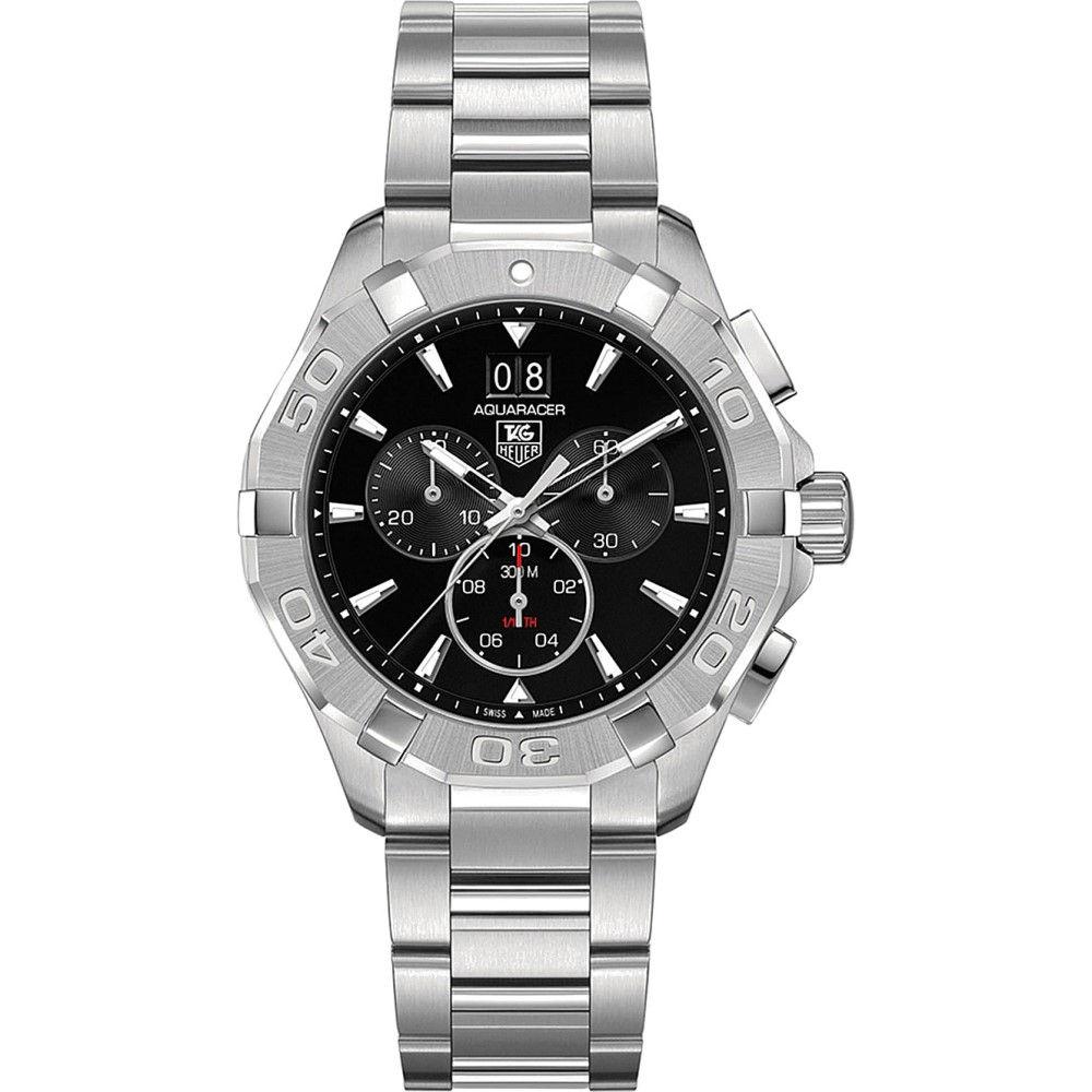 タグ ホイヤー メンズ 腕時計【cay1110.ba0925 aquaracer stainless steel watch】Black