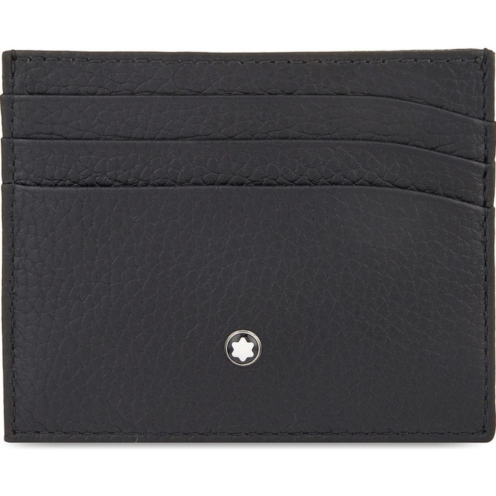 モンブラン メンズ カードケース・名刺入れ【grained leather card holder】Black