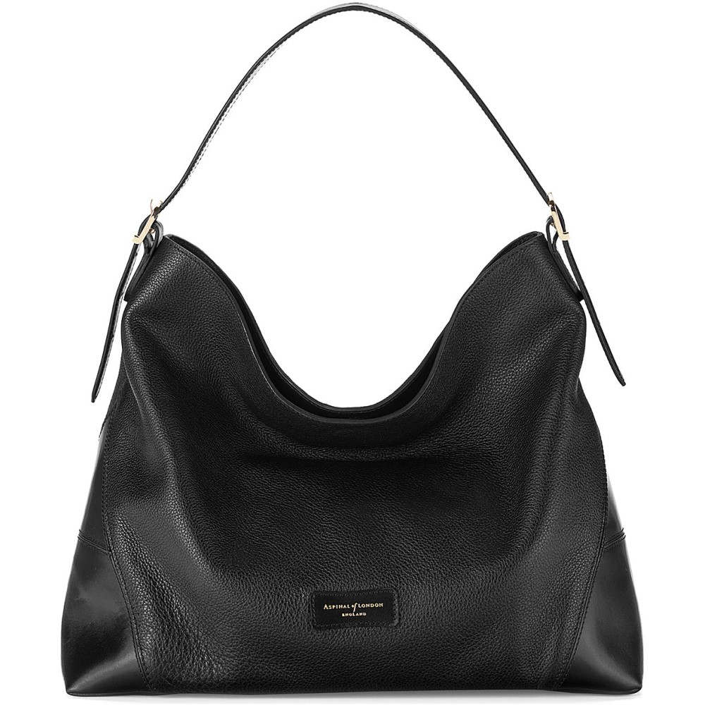 アスピナル オブ ロンドン レディース バッグ ショルダーバッグ【pebble-leather hobo bag】Black