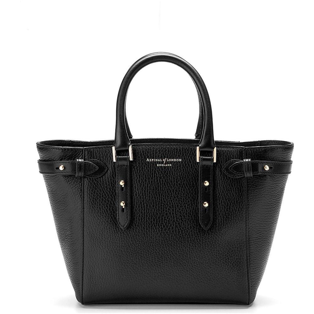アスピナル オブ ロンドン レディース バッグ トートバッグ【marylebone mini leather tote bag】Black