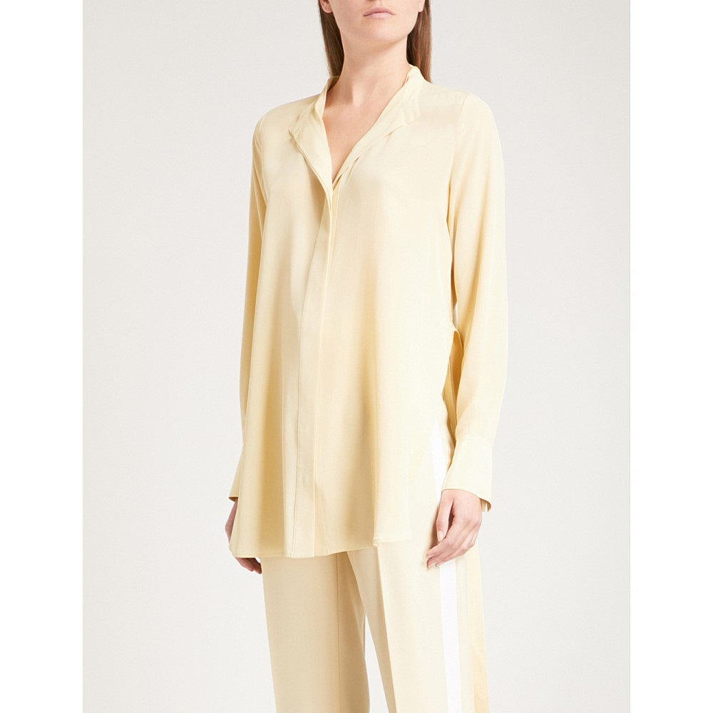 ジョゼフ レディース トップス ブラウス・シャツ【collarless silk blouse】Custard