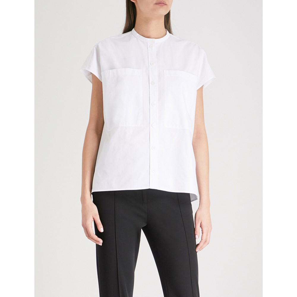 ジョゼフ レディース トップス ブラウス・シャツ【isaac band collar cotton shirt】White