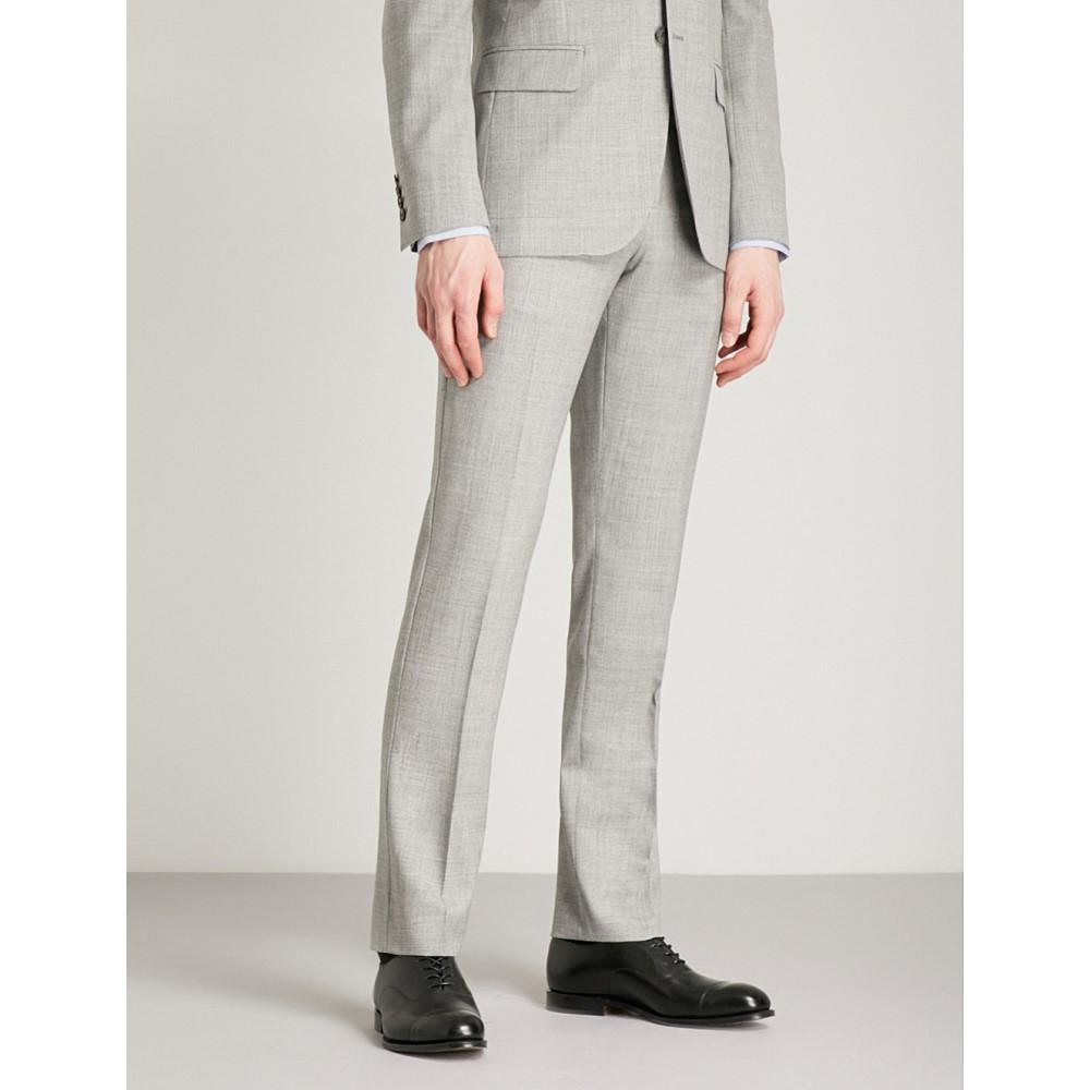 リース メンズ ボトムス・パンツ スラックス【bravo t modern-fit wool trousers】Grey