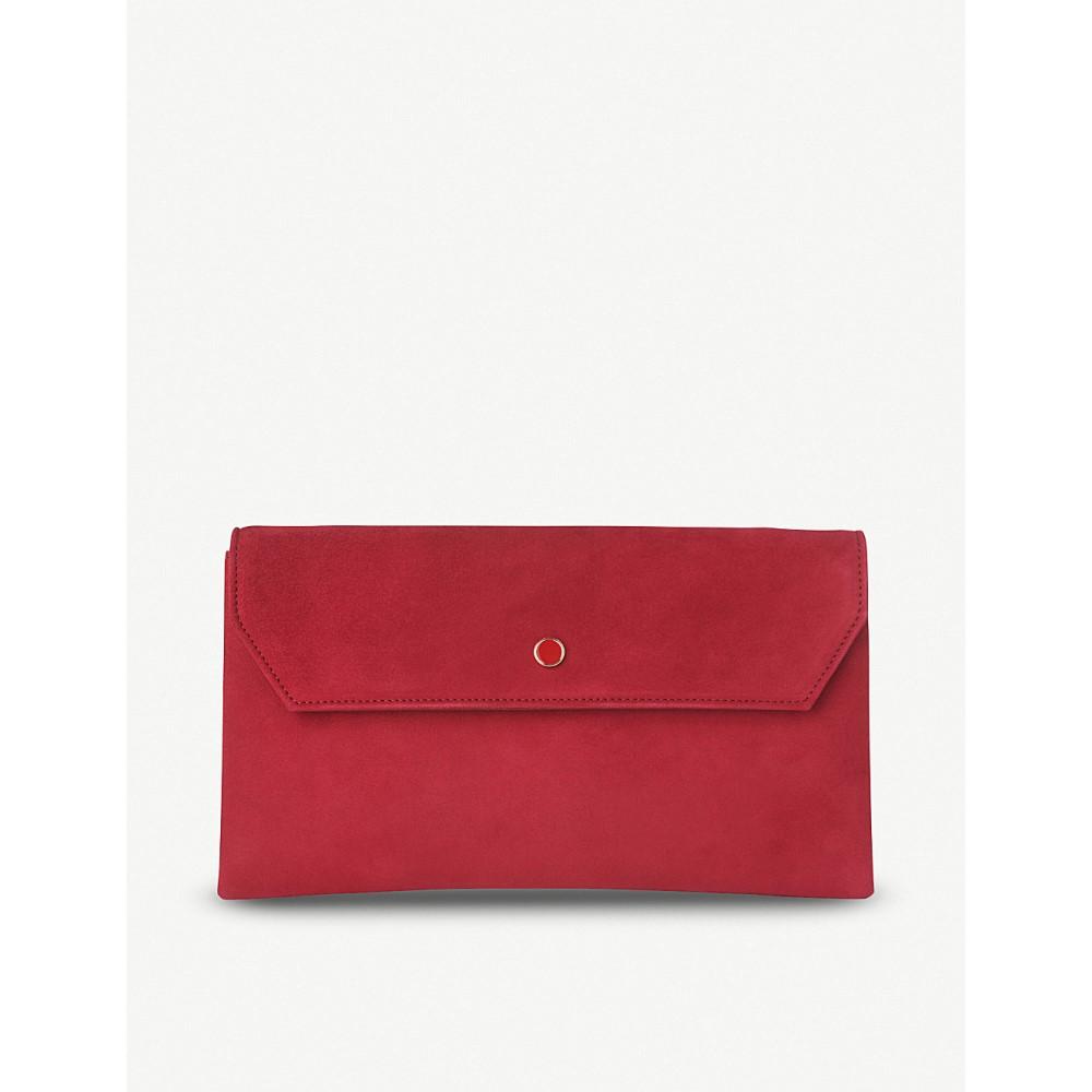 エルケーベネット レディース バッグ クラッチバッグ【dora suede envelope clutch】Red-poppy