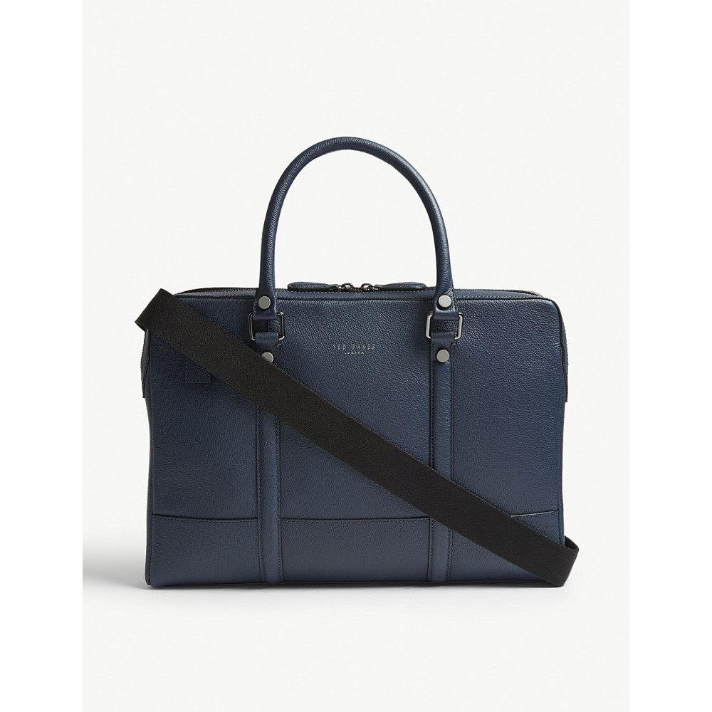 テッドベーカー メンズ バッグ ビジネスバッグ・ブリーフケース【awol grained leather document bag】Navy