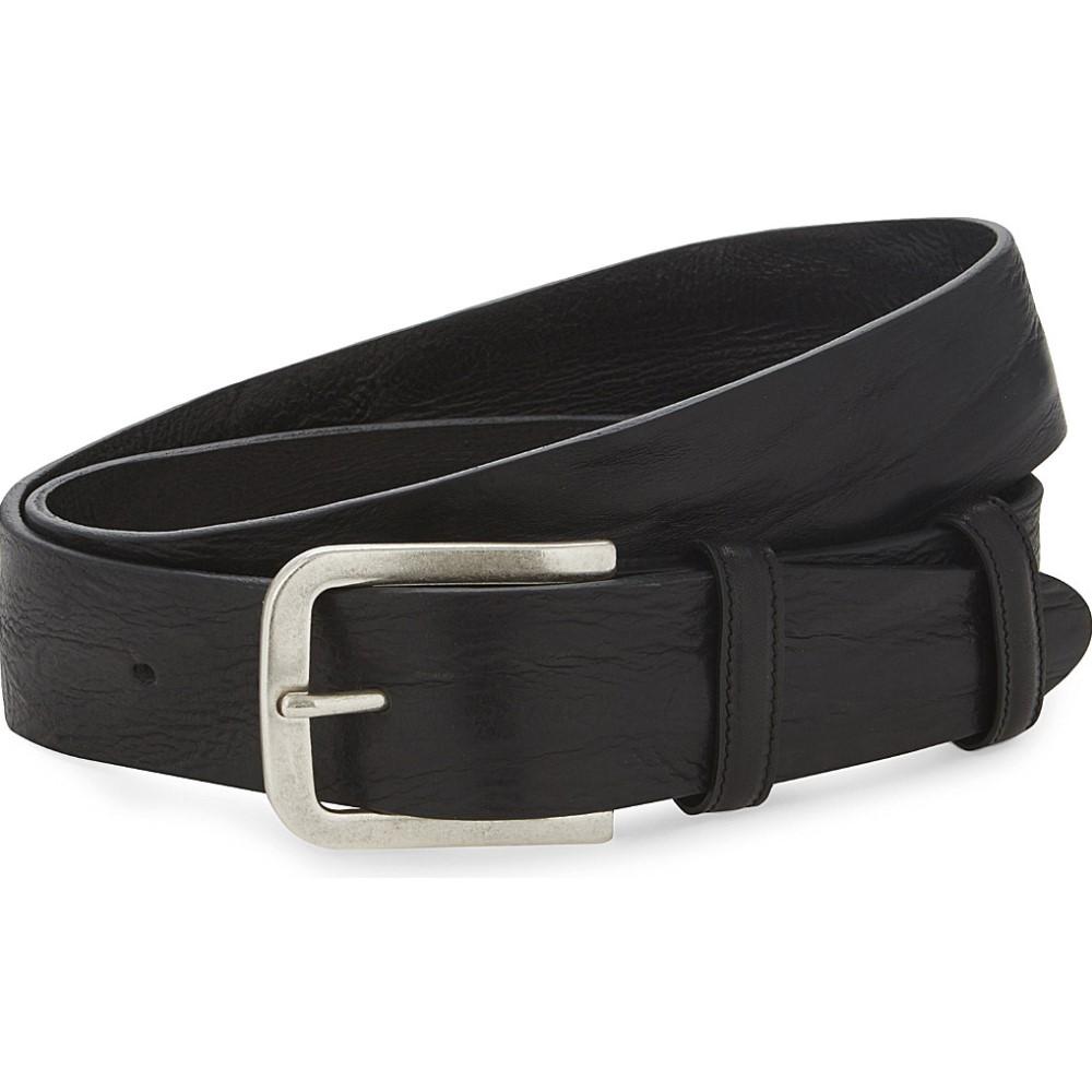 エリオットローズ メンズ ベルト【textured-leather belt】Black