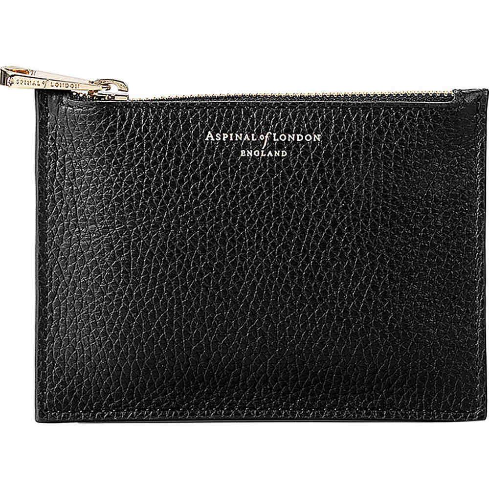 アスピナル オブ ロンドン レディース ポーチ【essential small leather pouch】Black