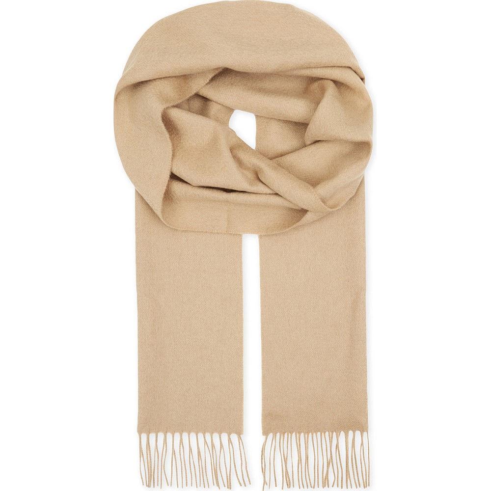 アスピナル オブ ロンドン レディース マフラー・スカーフ・ストール【cashmere scarf】Beige