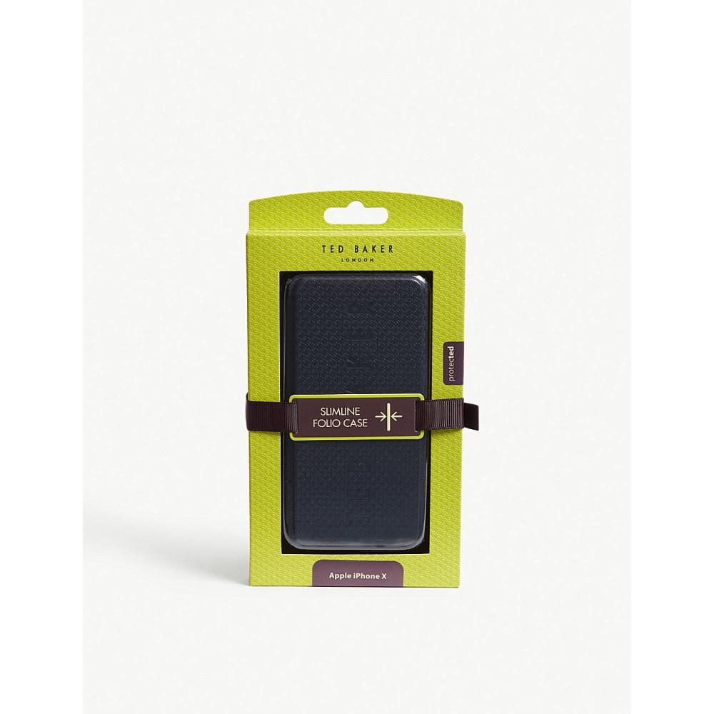 テッドベーカー メンズ iPhone (8)ケース【embossed logo iphone 8 case】Navy