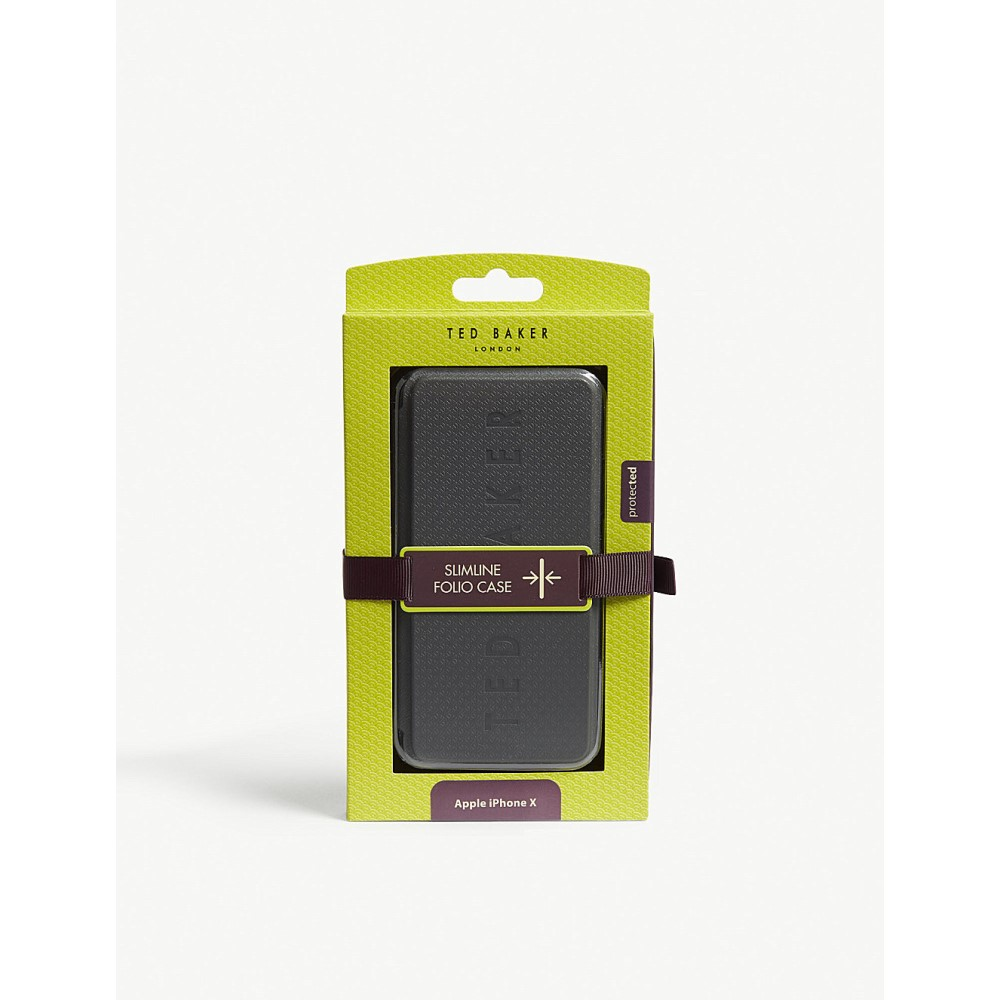 テッドベーカー メンズ iPhone (8)ケース【embossed logo iphone 8 case】Grey