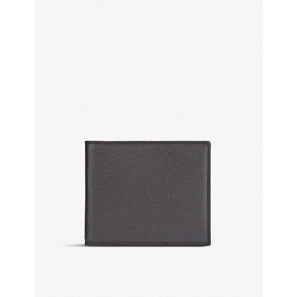 スマイソン メンズ カードケース・名刺入れ【grosvenor 8 card leather wallet】Brown