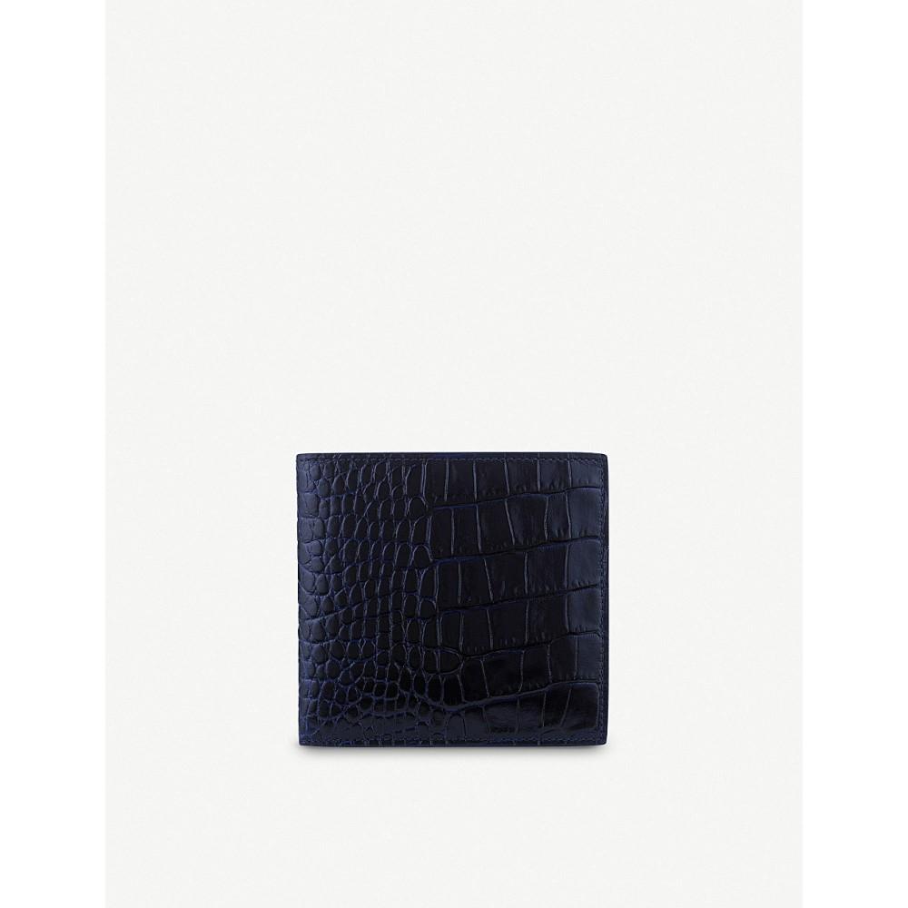 スマイソン メンズ カードケース・名刺入れ【mara 8 card leather wallet】Navy