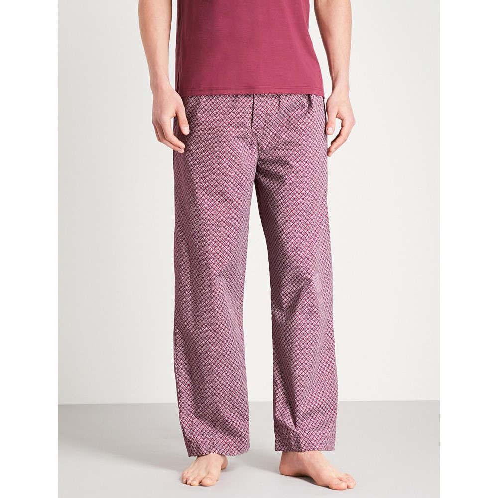 【未使用品】 デリック ローズ bottoms】Burgundy メンズ pyjama ローズ インナー・下着 パジャマ・ボトムのみ【diamond-print cotton pyjama bottoms】Burgundy, スタイリッシュゴルフ:a818cc0c --- hortafacil.dominiotemporario.com