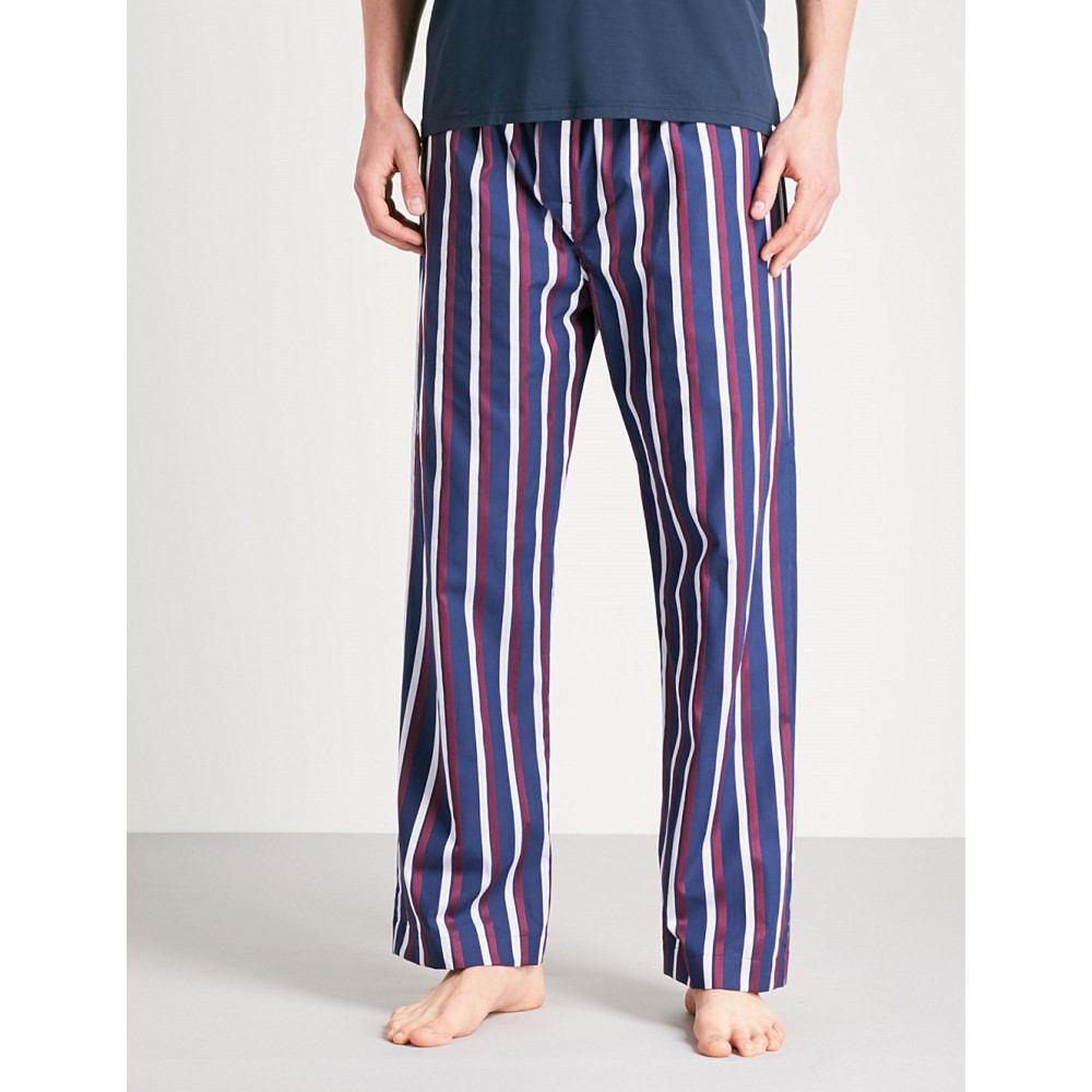 福袋 デリック ローズ メンズ ローズ インナー メンズ・下着 パジャマ bottoms】Navy・ボトムのみ【striped cotton pyjama bottoms】Navy burgundy, SEVENSEAS:e117c67c --- business.personalco5.dominiotemporario.com