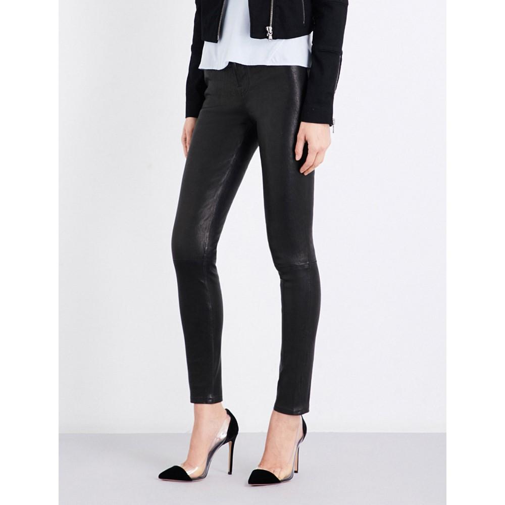 ジェイ ブランド レディース ボトムス・パンツ ジーンズ・デニム【maria skinny leather jeans】Black