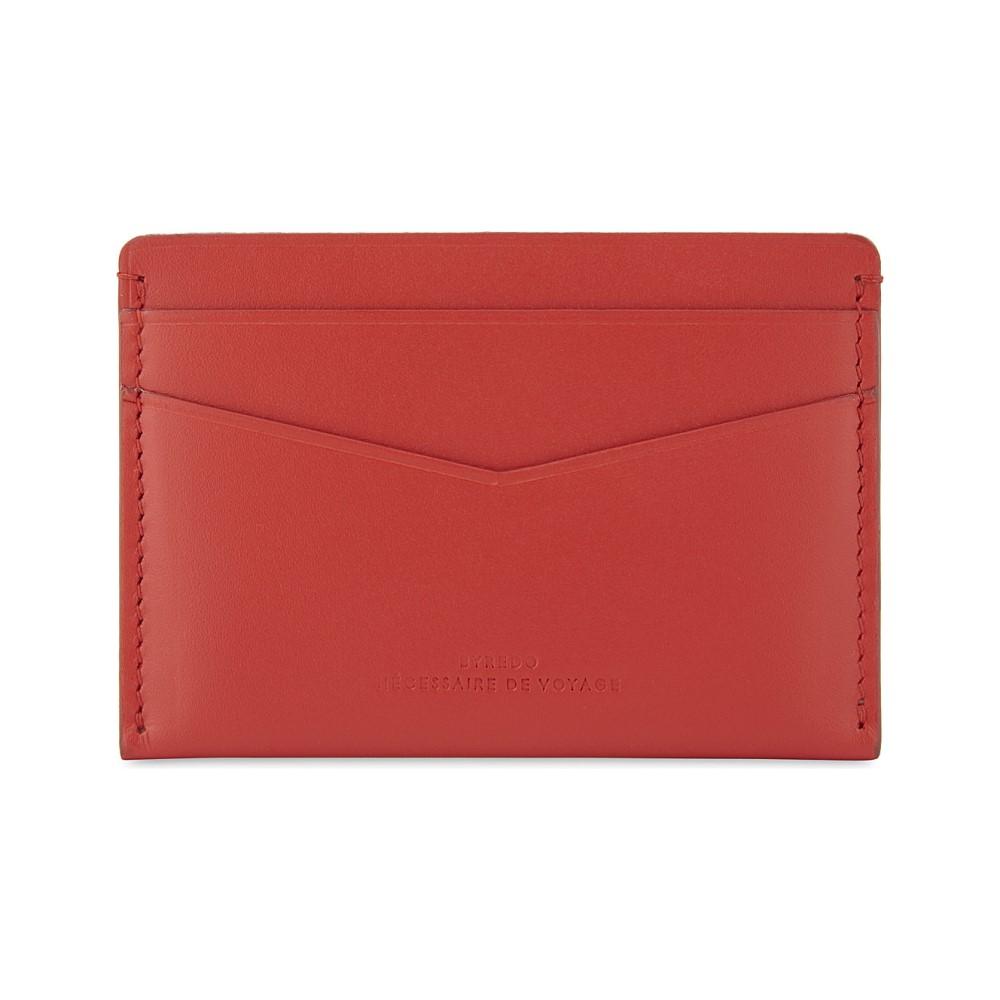 バレード レディース カードケース・名刺入れ【matte leather card holder】Red