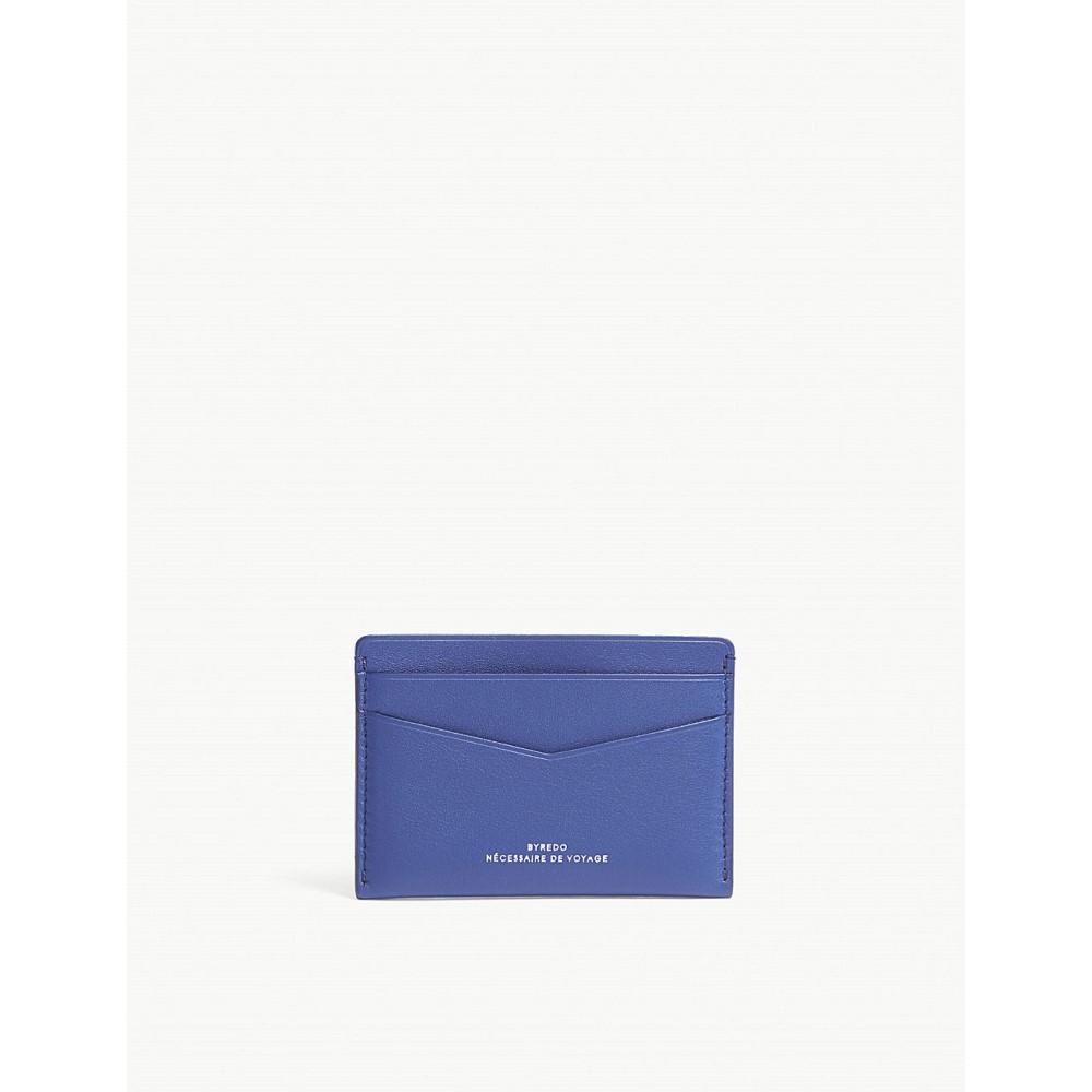バレード レディース カードケース・名刺入れ【matte leather card holder】Blue
