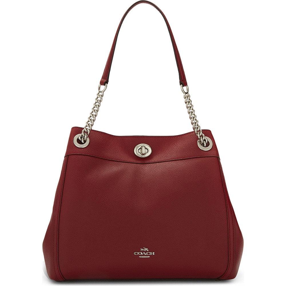 コーチ レディース バッグ トートバッグ【edie leather shopper】Sv/red currant