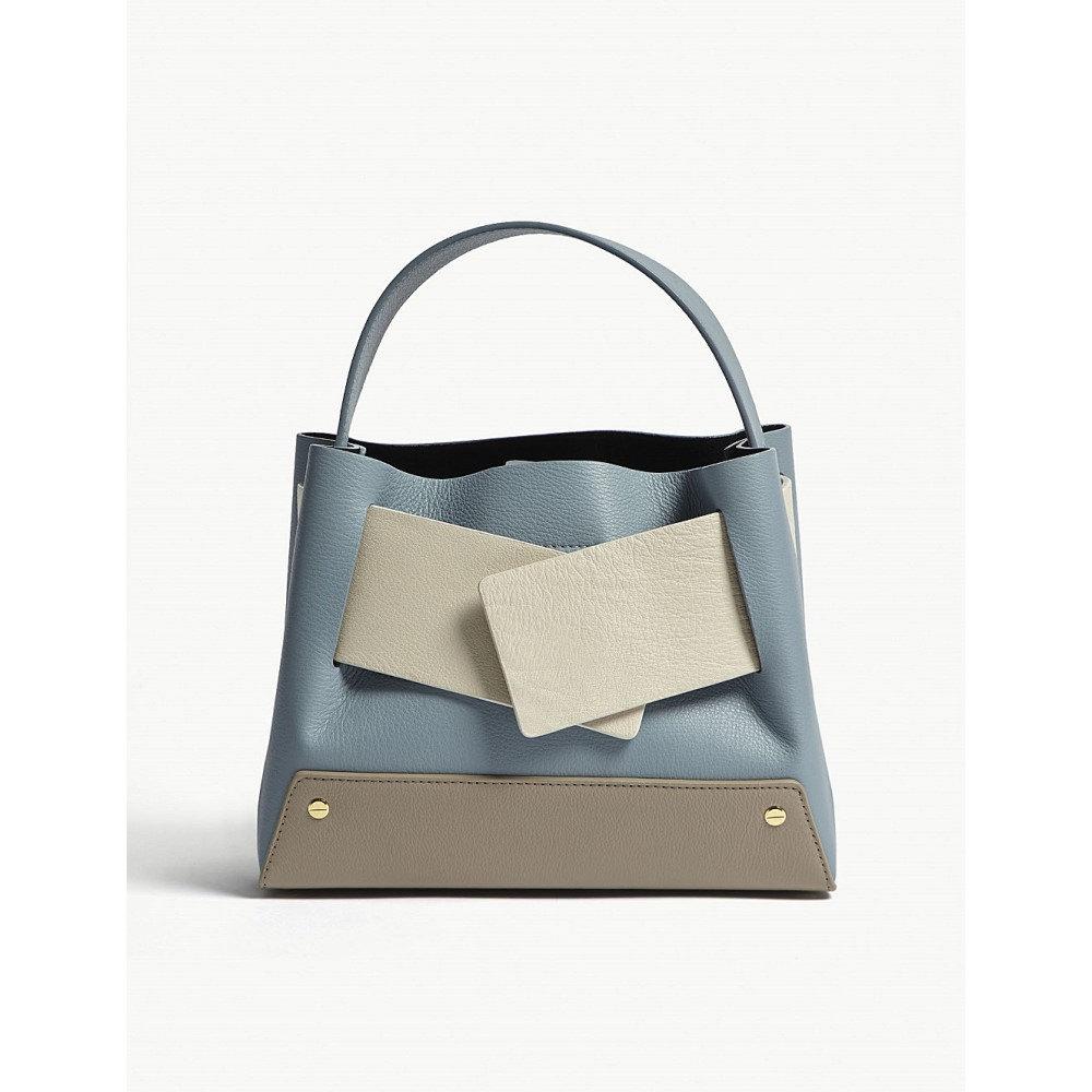 ユゼフィ レディース バッグ トートバッグ【biggy colour-block leather tote】Sky/cream